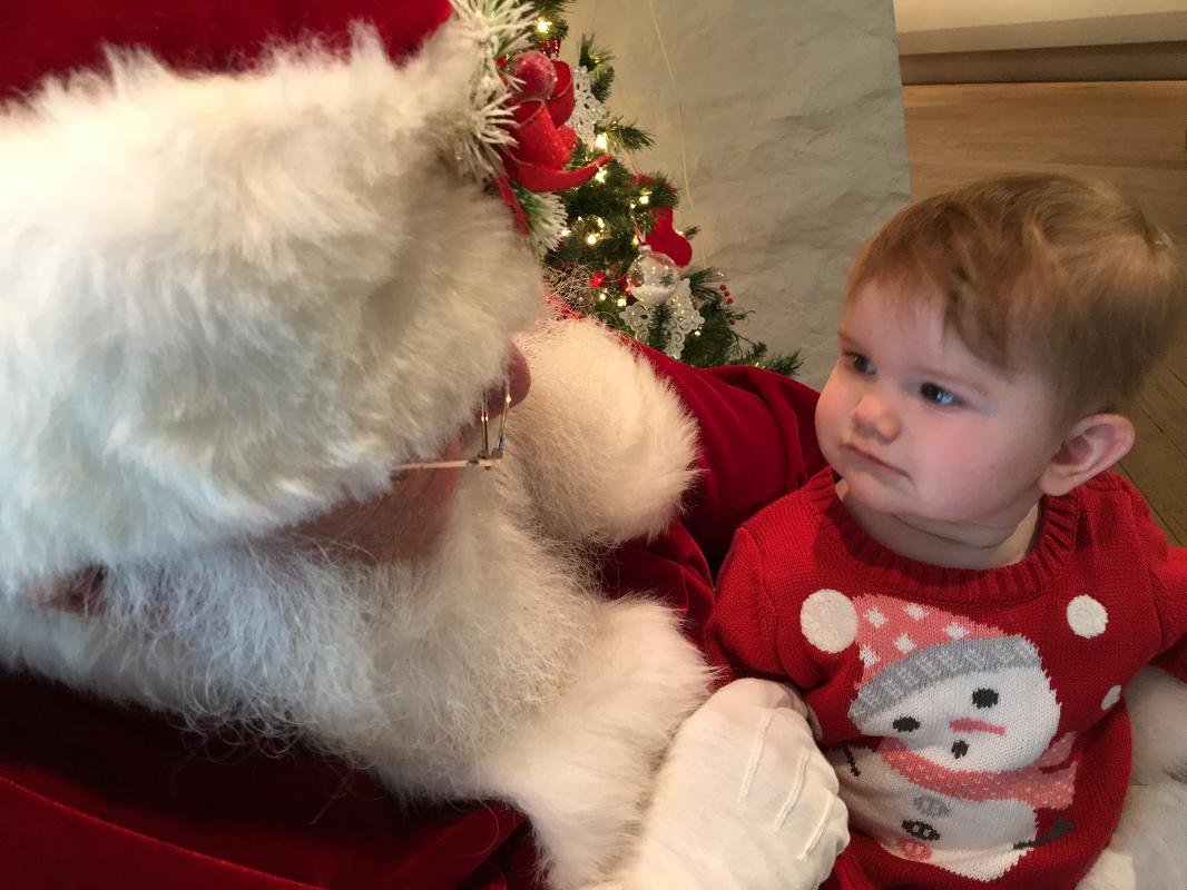 Sa première rencontre avec le père Noël