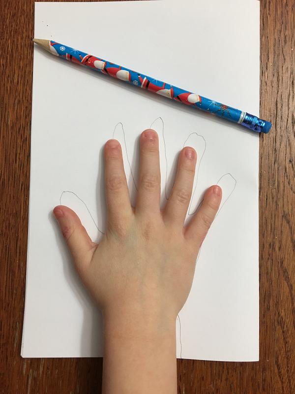tracer la main