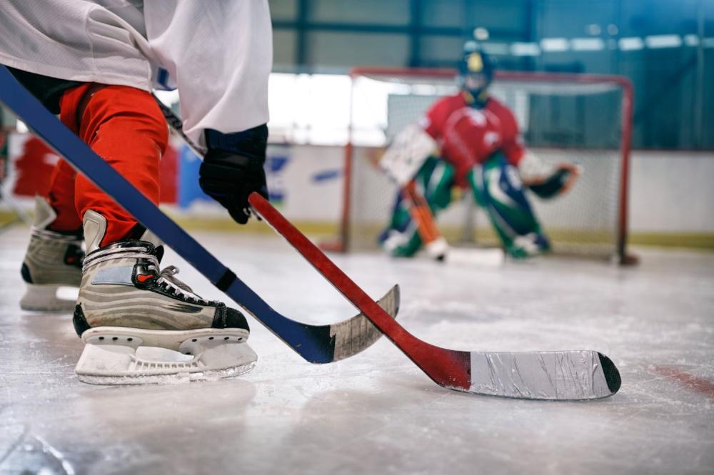 joueurs de hockey, hockey mois