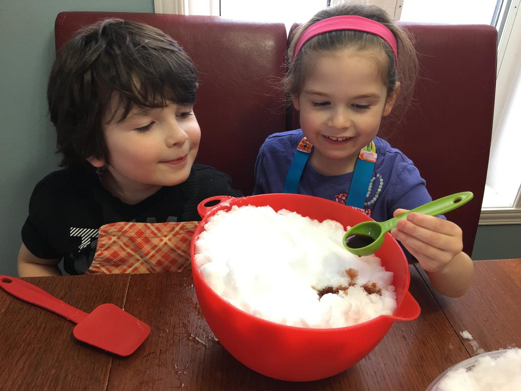 cuisiner avec de la neige