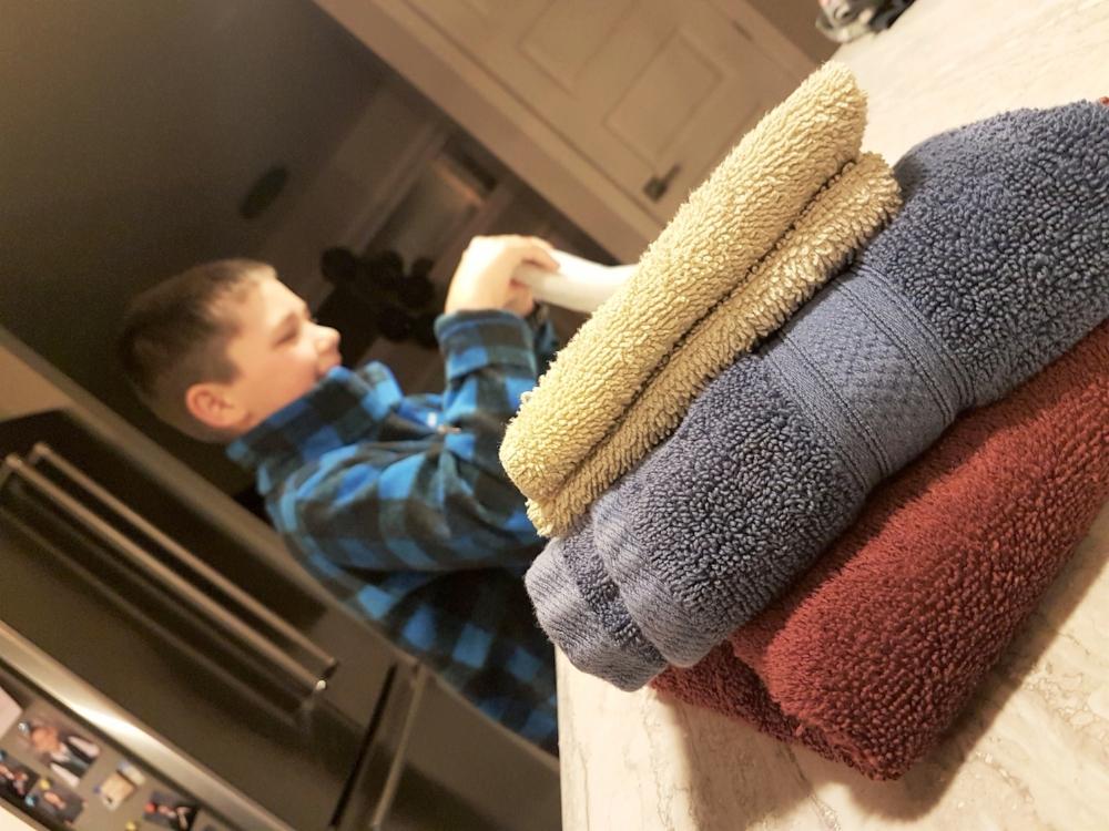 (Merci beau-fils pour les serviettes!)   Crédit photo : Mina