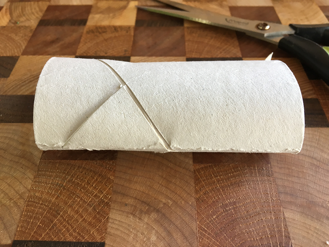 Écrasez le rouleau de papier de toilette
