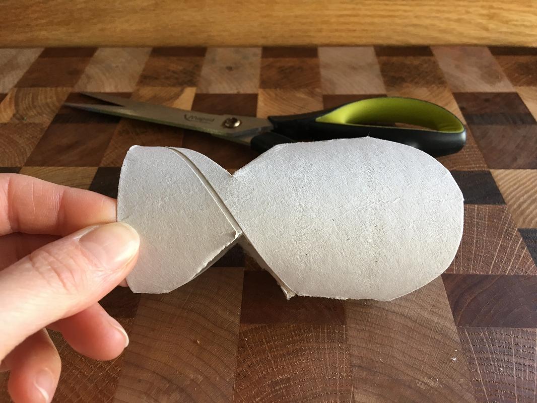 Poisson bricolé en rouleau de papier de toilette, #MamanBricole