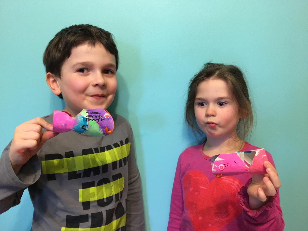 enfants fiers de leur création, poisson d'avril, printemps, bricolage, brico, #mamanbricole
