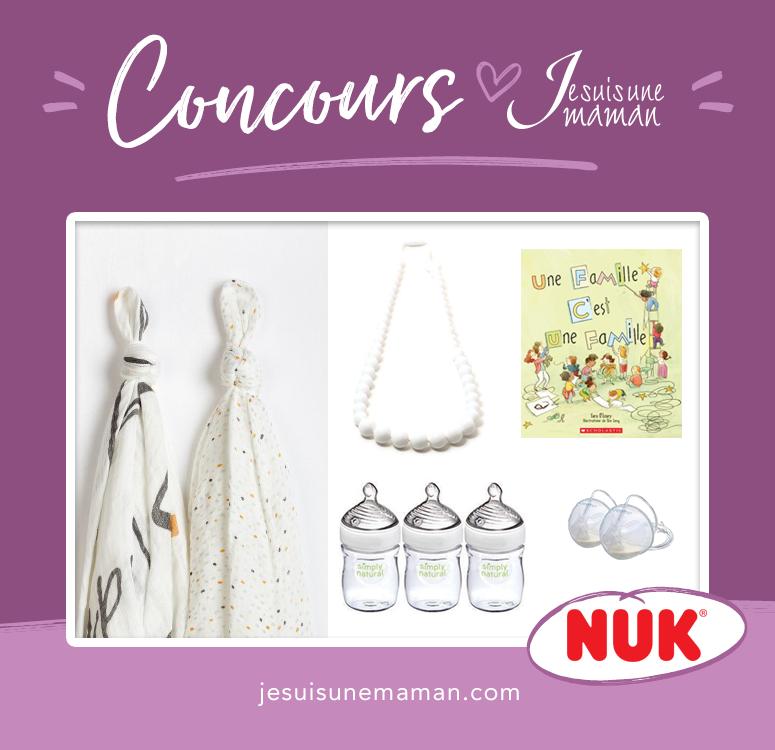 concours NUK-panier cadeau pour bébé-ensemble pour gâter une maman