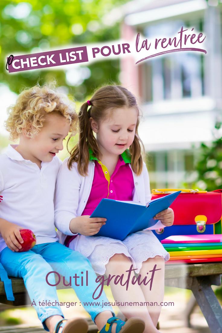 check list pour la rentree-aide mémoire-liste-à cocher-rentrée scolaire-enfants-à quoi penser-école-fournitures scolaires autres-maman-Je suis une maman