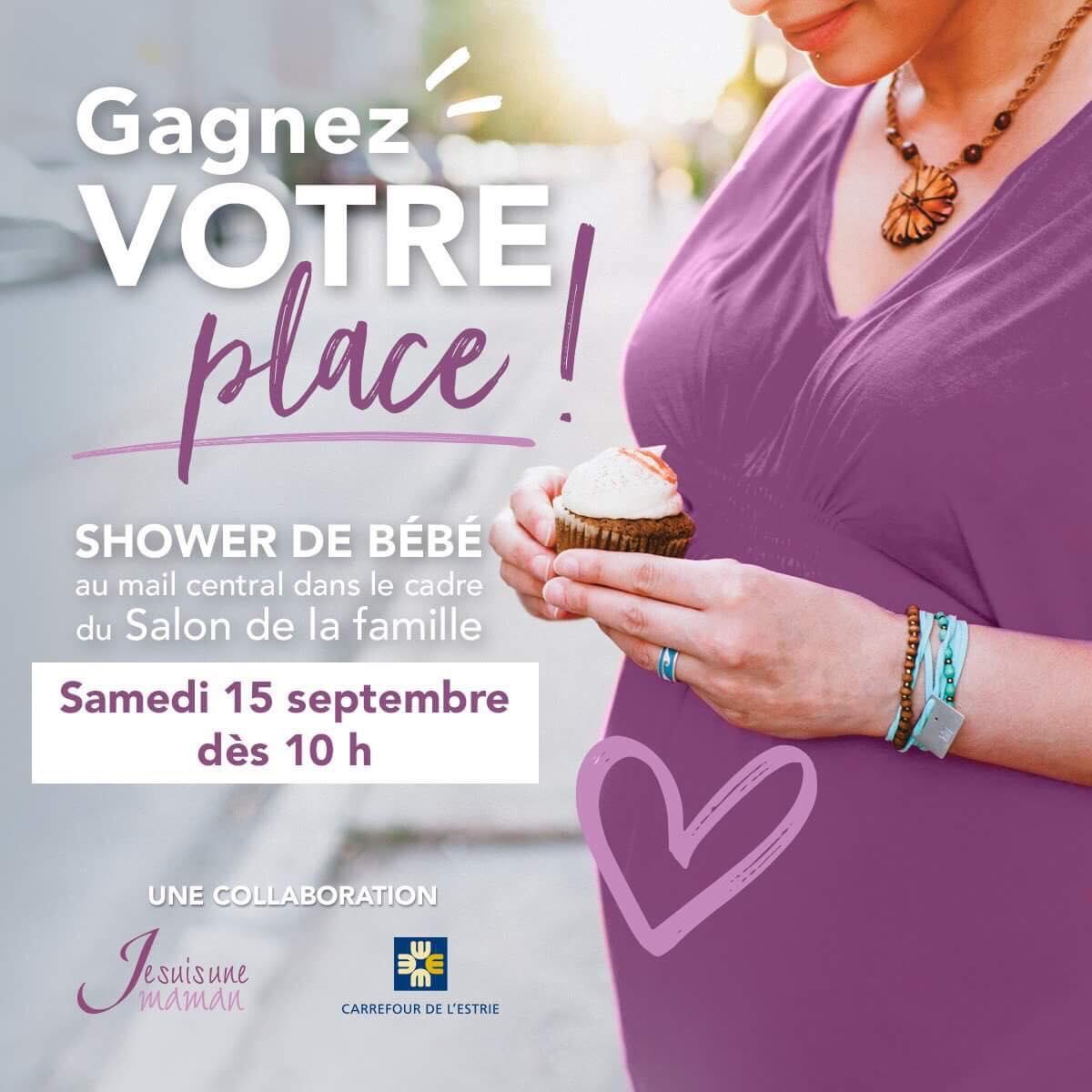 événement VIP-shower de bébés-fête-femme enceinte-grossesse-célébration-cadeaux-surprises-Carrefour de l'Estrie-Je suis une maman