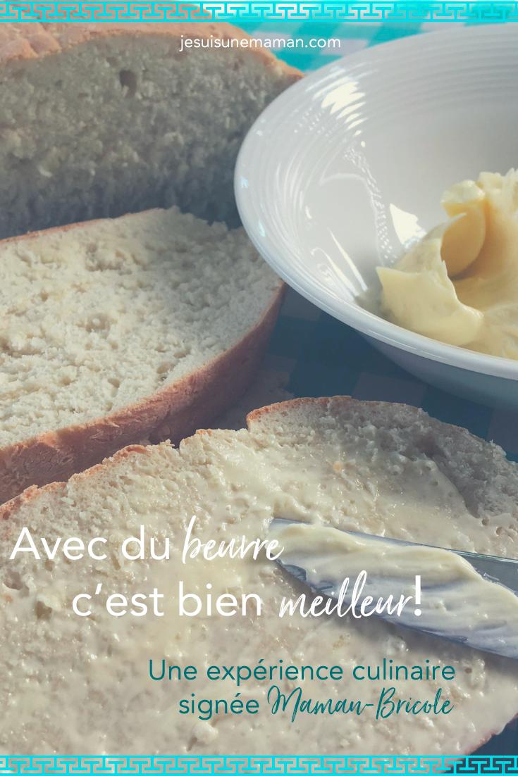 MamanBricole-#MamanBricole-Beurre-expérience culinaire-Cuisine-Faire du beurre-baratter du beurre dans un pot Mason-enfant-DIY-Maman-jeux-manger-Je suis une maman