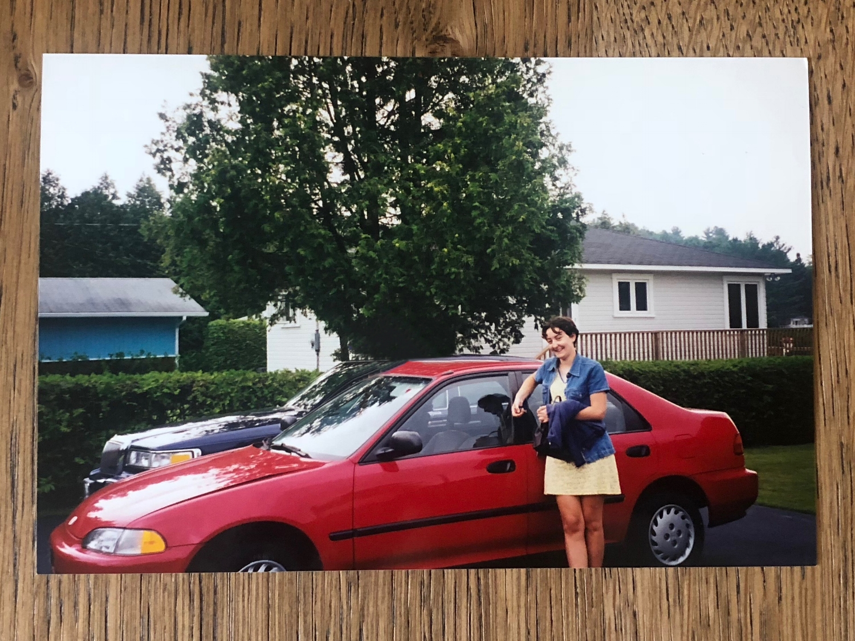 Collaboration Honda-Sherbrooke Honda-Magog Honda-Civic rouge-première voiture-Honda Civic-ambassadrice-CrV-Voiture de choix- Jaime Damak-Je suis une maman