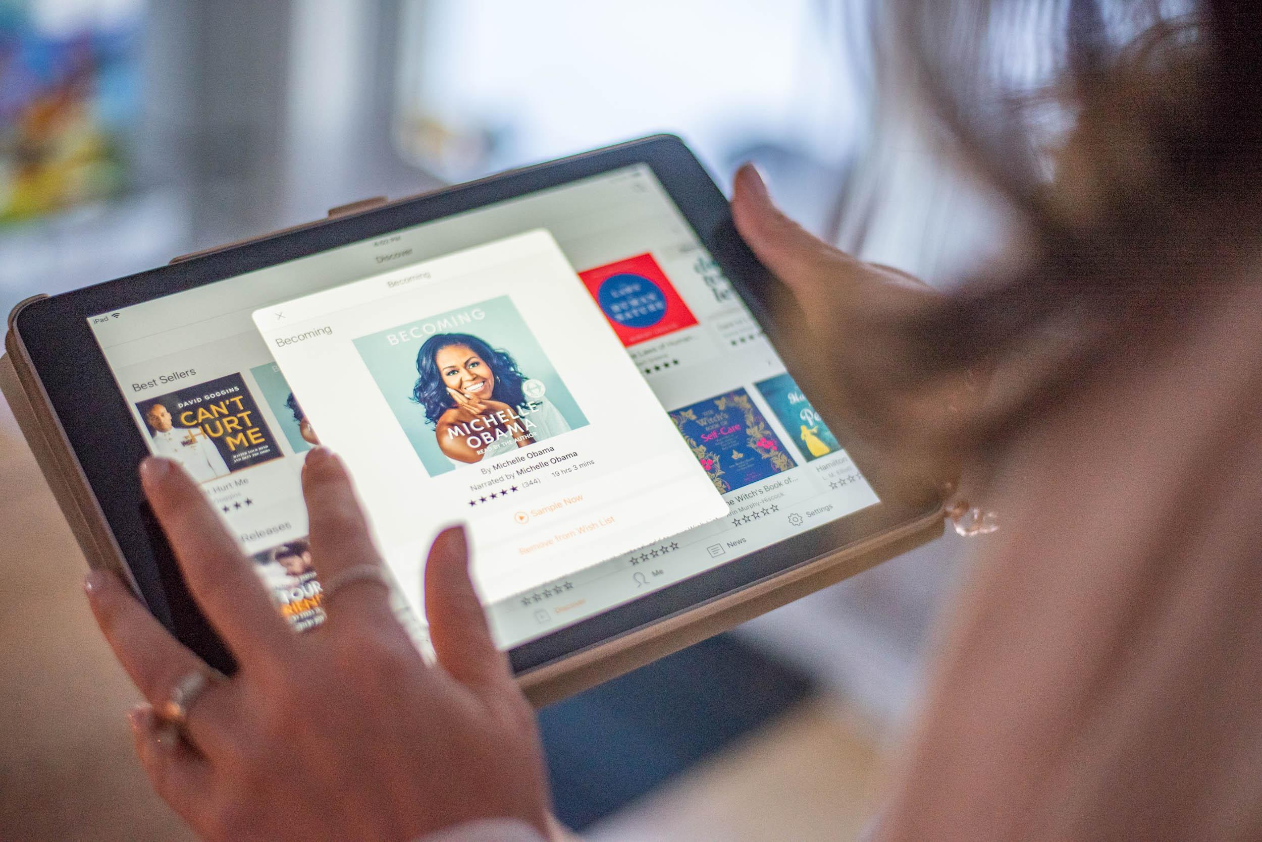 Audible-bibliothèque de livres audio-contenu audio-collaboration-livre numérique-route-Je suis une maman