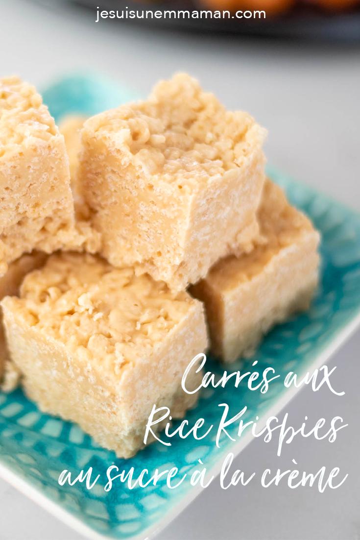 carrés aux Rice Krispies au sucre à la crème-sucrerie-dessert-MamanBricole-#MamanBricole-bouchées sucrées-Noël-Réception-recevoir-je suis une maman
