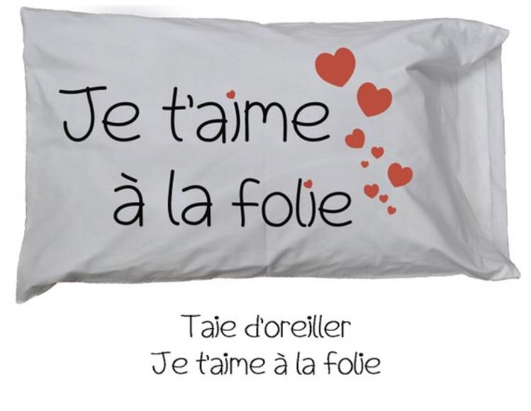 Saint Valentin- Valentin-cadeaux pour l'être aimé-fête de l'amour-coeurs-taie d'oreiller-Je suis une maman