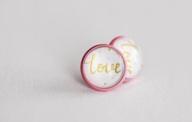 Saint Valentin- Valentin-cadeaux pour l'être aimé-fête de l'amour-coeurs-boucles d'oreilles-Je suis une maman
