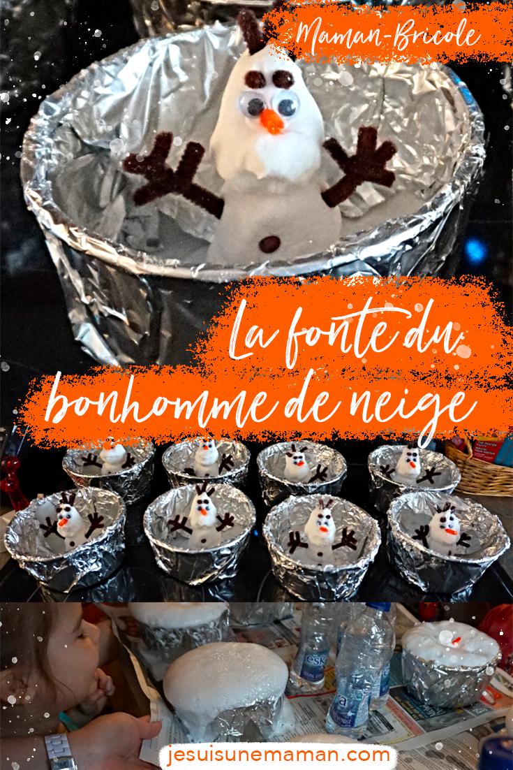Bonhomme de neige fondu-brico-MamanBricole-enfant-Jouer-DIY-#MamanBricole-peinteure gonflante-peinture 3d- 3 dimensions-Je suis une maman