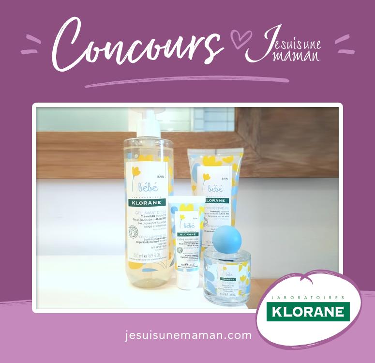 Concours Klorane-produits pour bébé-doux pour bébés-heure du bain-produits naturels-Je suis une maman