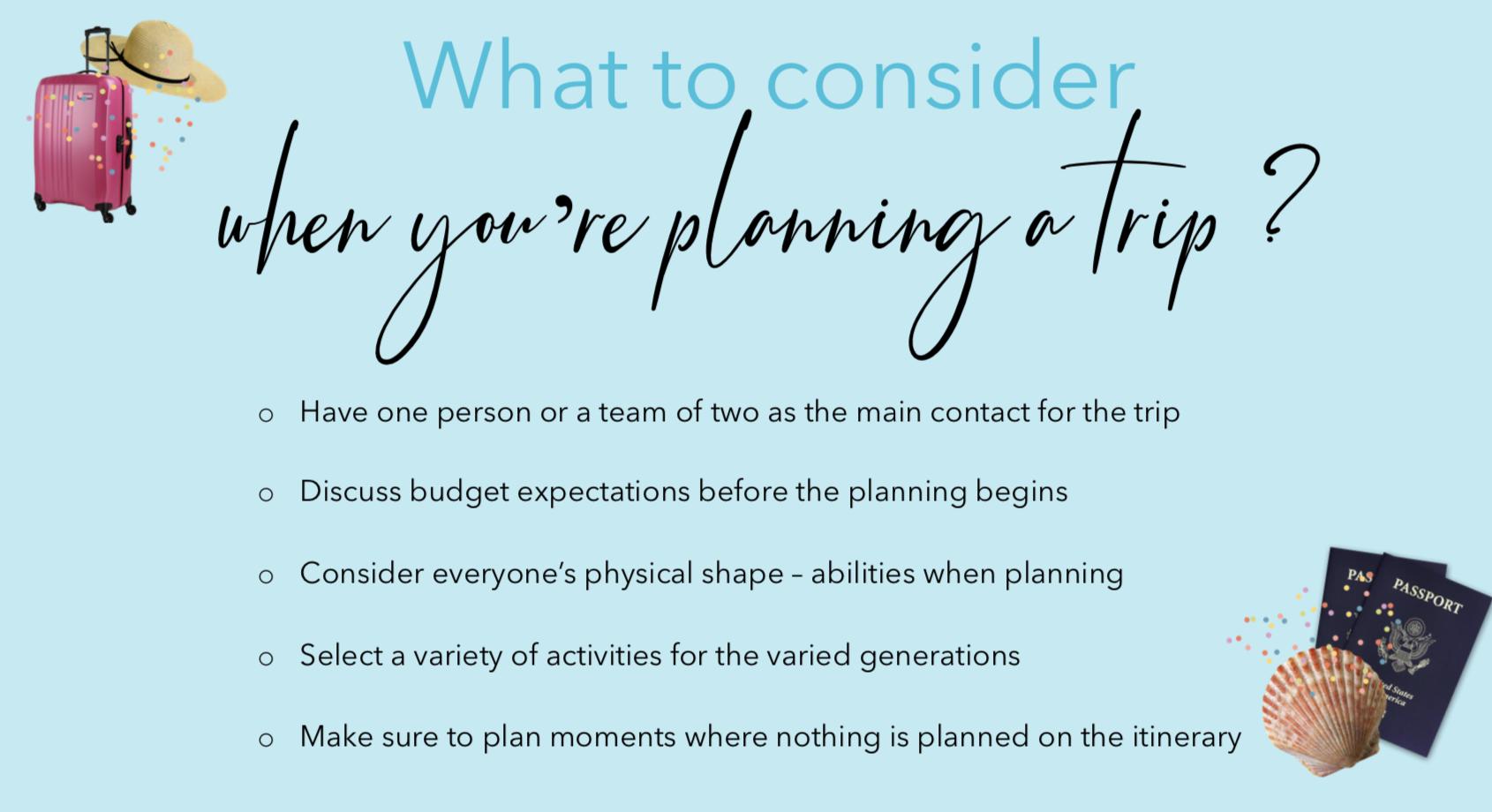 multigenerational travel - travel - trip planning