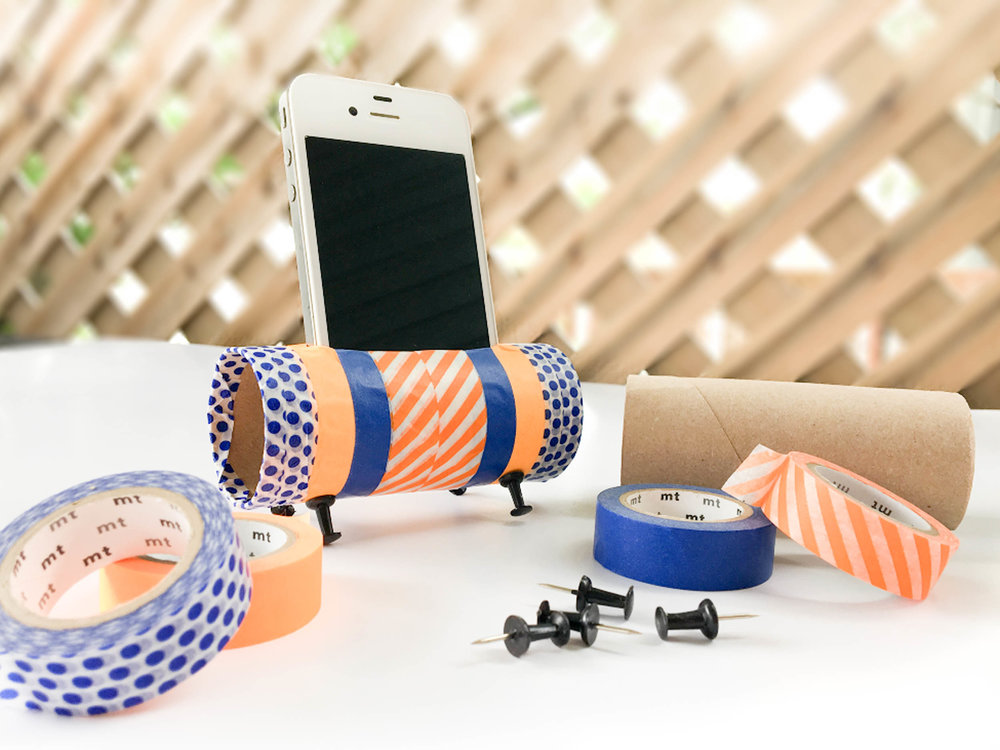 cadeau-diy-enfant-fête-papa-bricolage-support-cellulaire-techno-washi-tape