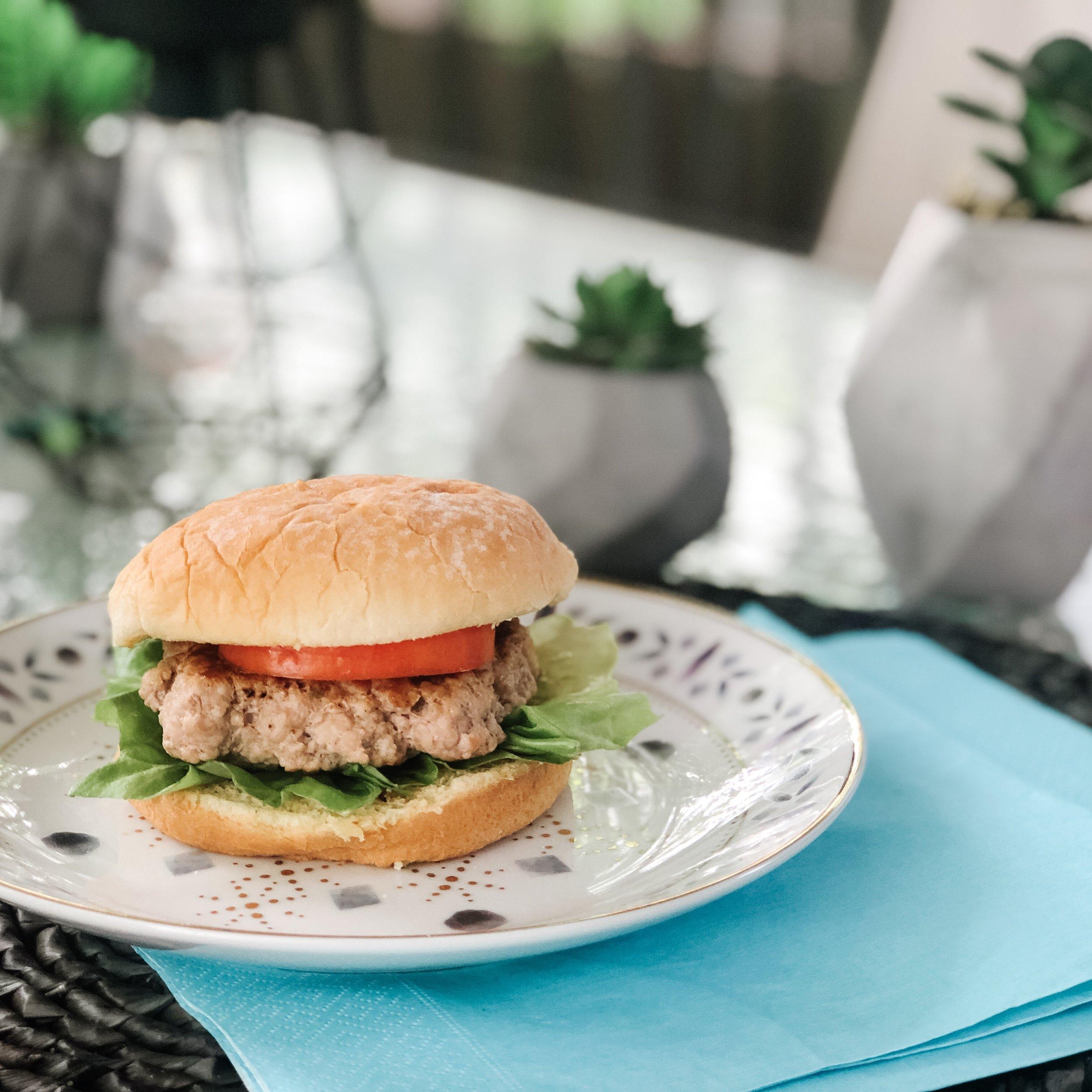 burger-burger à la dinde-bbq-recette bbq-turkey burger