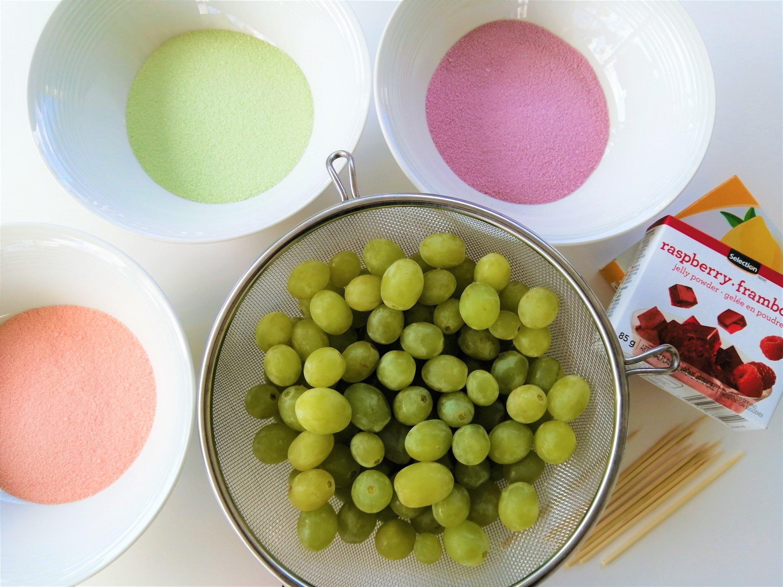 raisins-colorés-collation-poudre-jello-bonbon-santé-cuisine-recette-famille-coloré