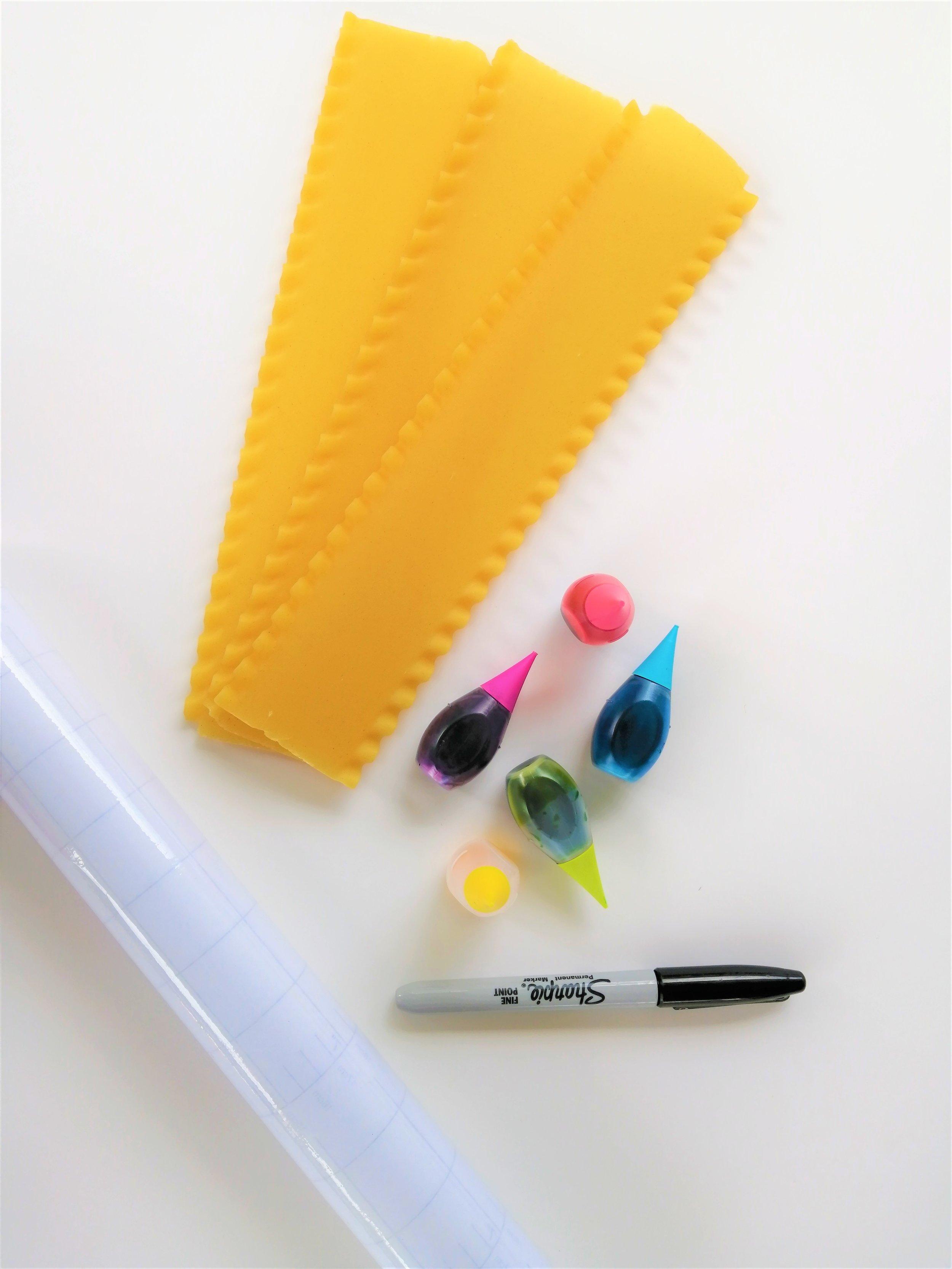 matériel-lasagnes-colorants-sharpie