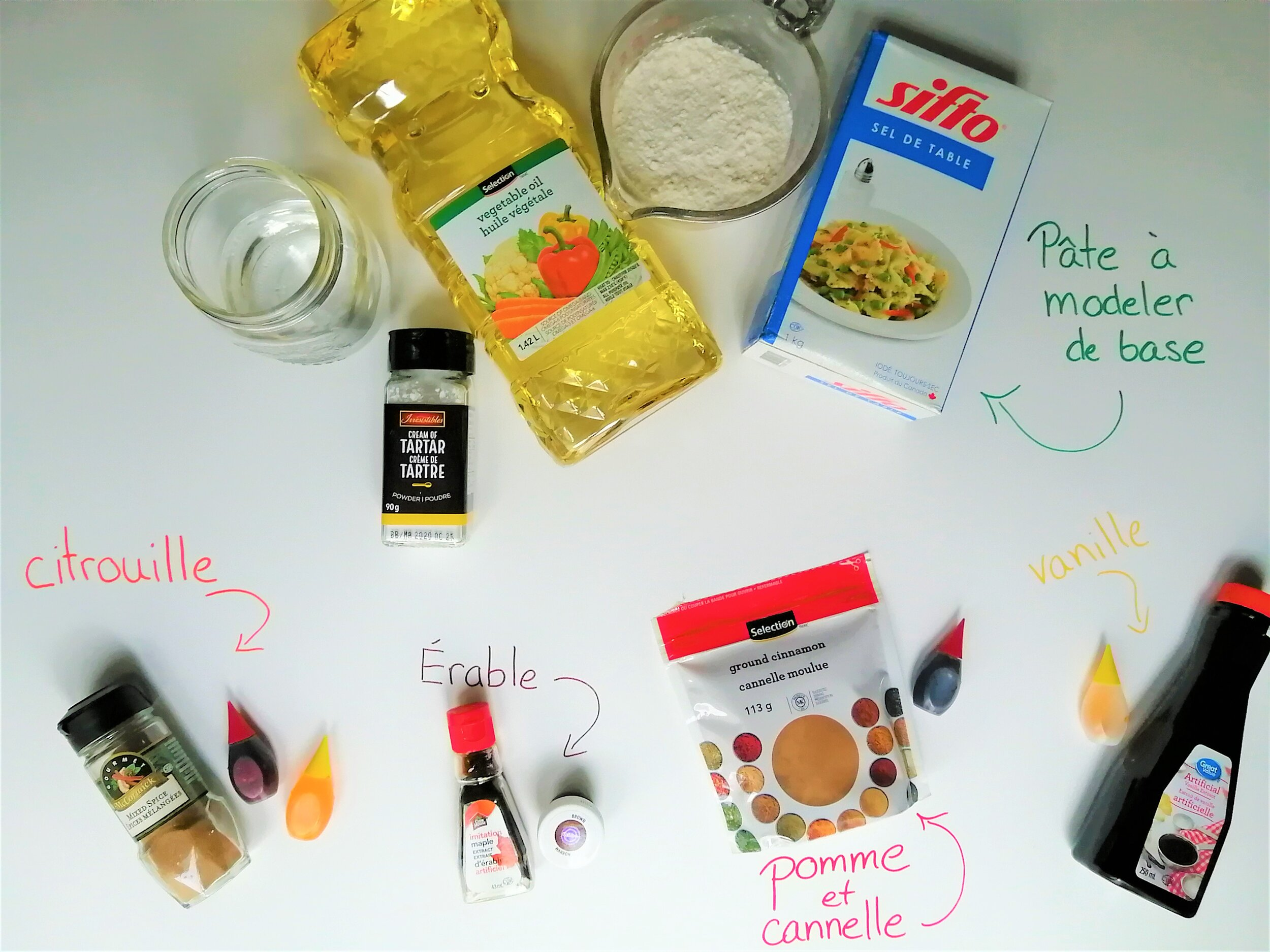 fabriquer-pâte-à-modeler-maison-automne-érable-citrouille-pommes-cannelle