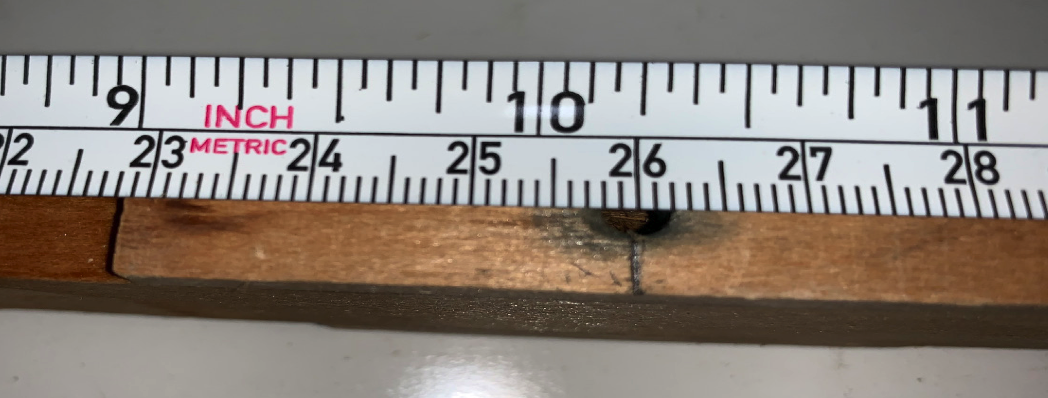 """Picture 2, Measure """"F"""" to balance hole center (259.5mm)"""