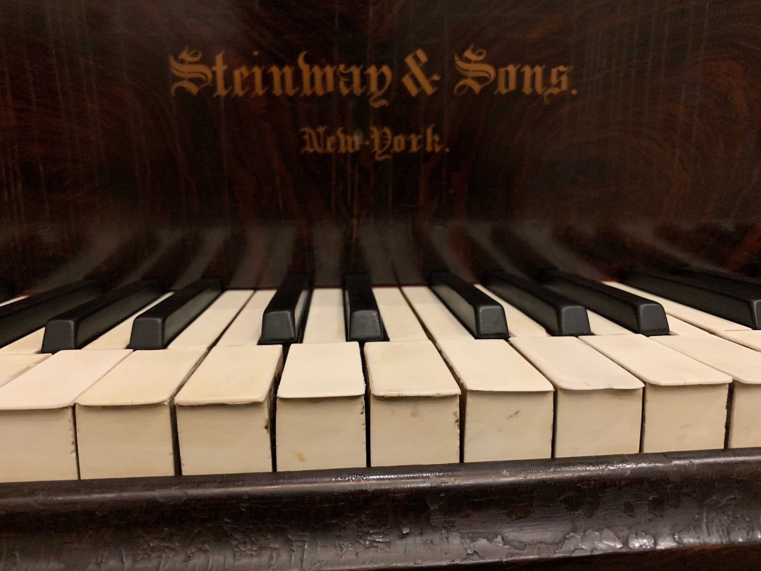 Picture 4. A keyboard that's in desperate need of replacement! (about 140 years old).