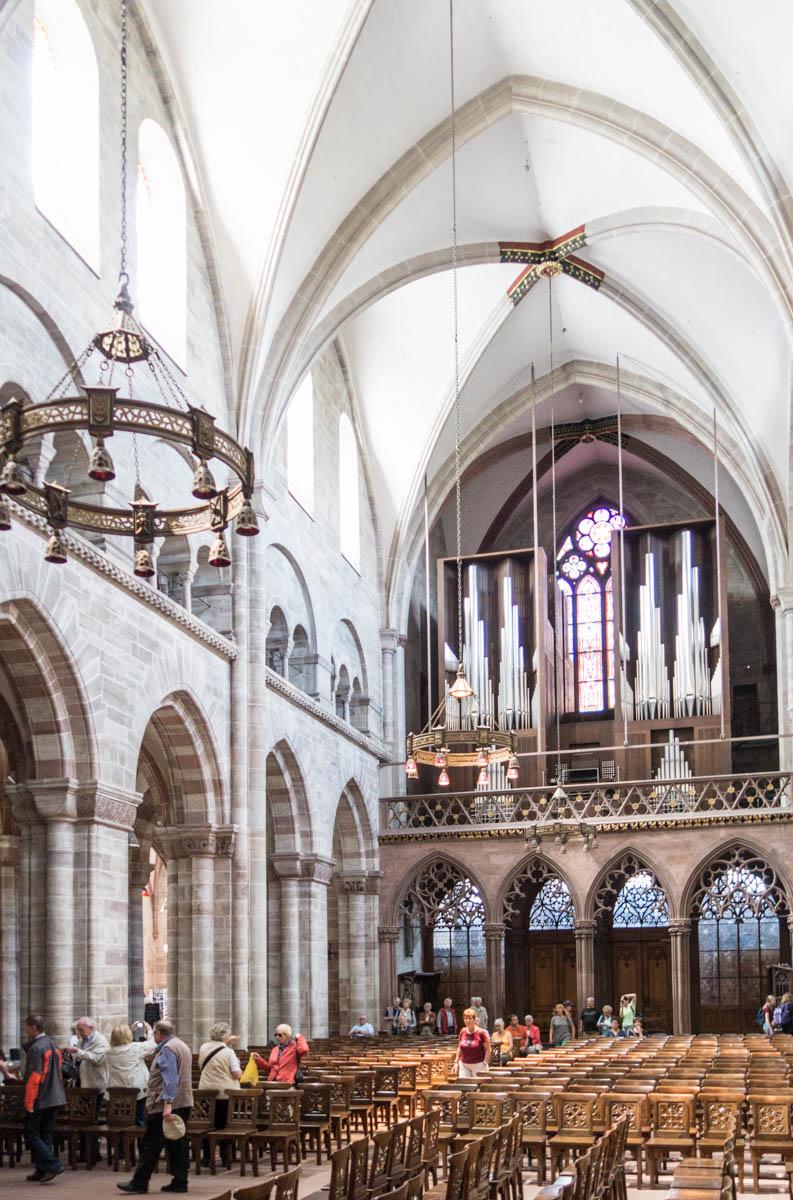 Basel Muenster, looking inside.