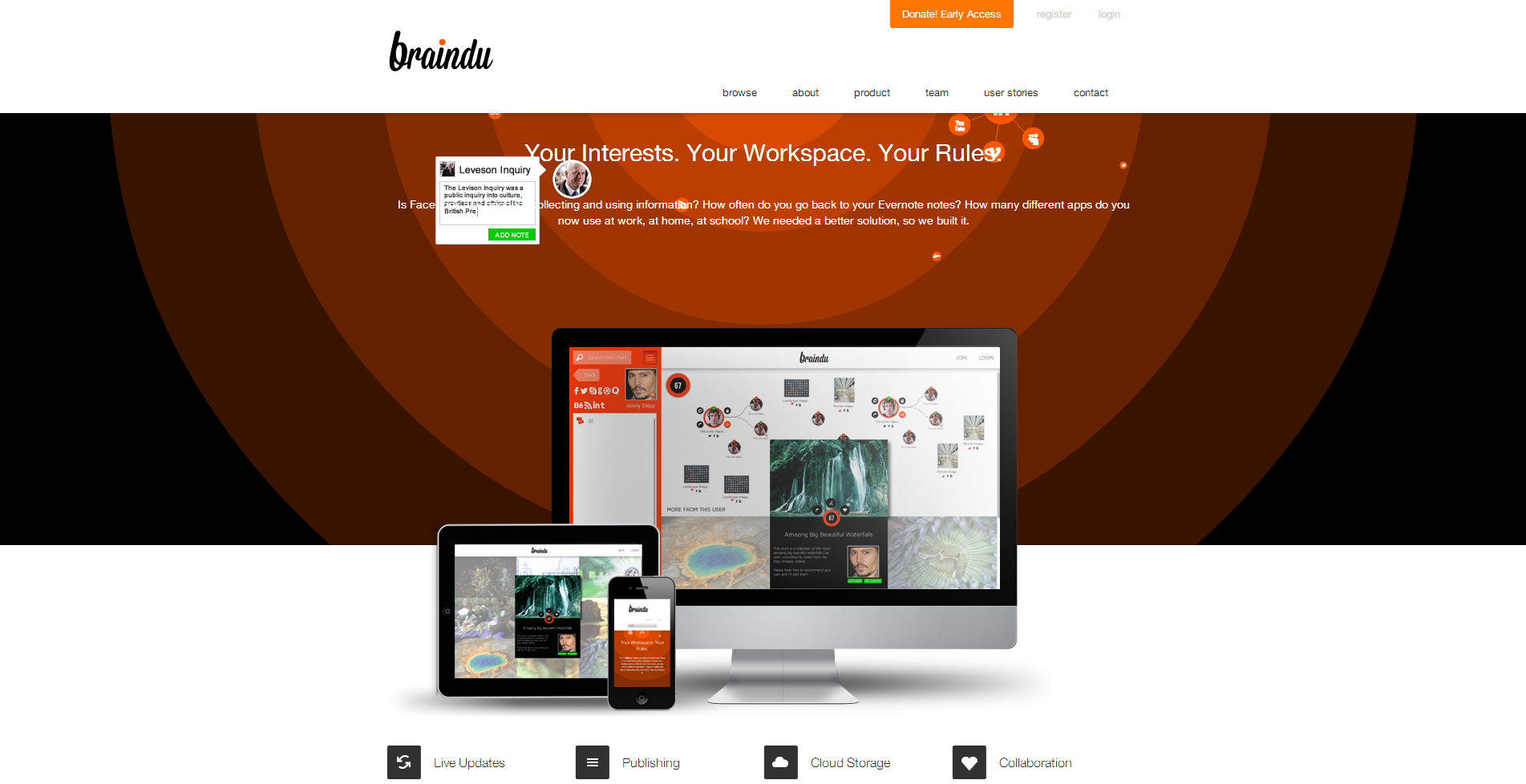 The Braindu Product Website