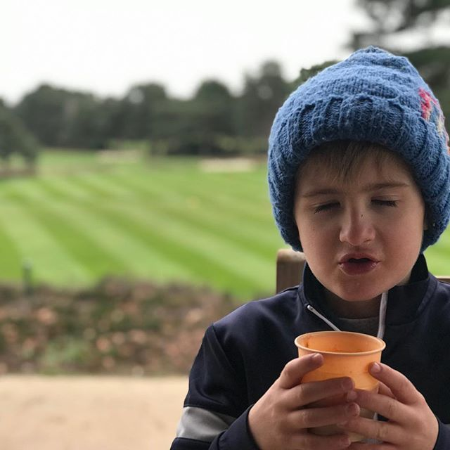 Someone's enjoying their tomato soup a little too much 😋 #ferndowngolfclub #golf #golfer #minigolfer #golfclub