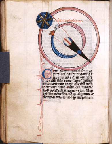 Manuscripts and Archives Division, The New York Public Library. (1260).Diagram of a lunar eclipse, with earth casting a shadow cone.Retrieved from http://digitalcollections.nypl.org/items/510d47da-e573-a3d9-e040-e00a18064a99