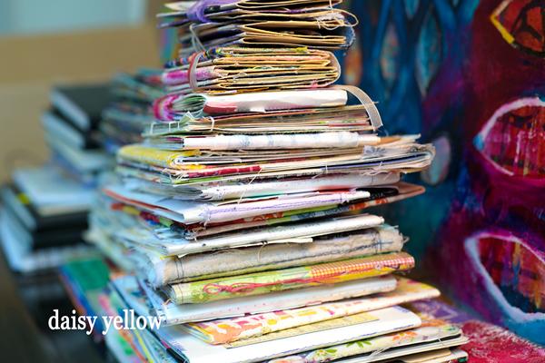 Hand-made journals by Tammy Garcia.