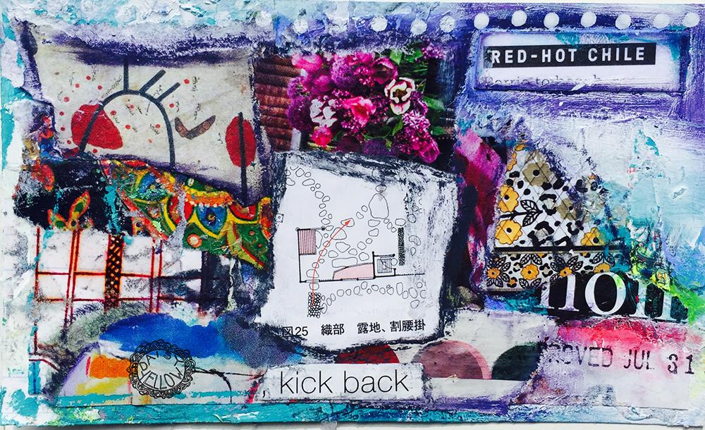 "3x5"" index card collage. Artwork by Tammy Garcia."