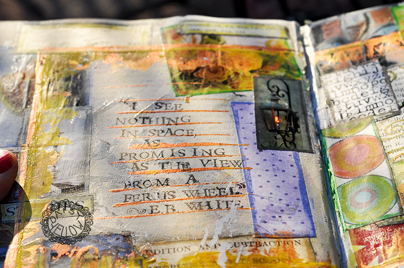 Art Journal Page in an Altered Book, 2009, Artwork by Tammy Garcia.