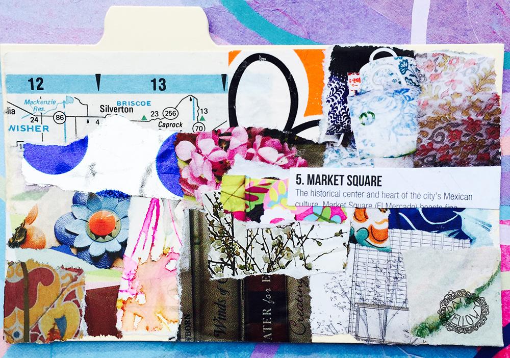 """3x5"""" index card, artwork by Tammy Garcia."""