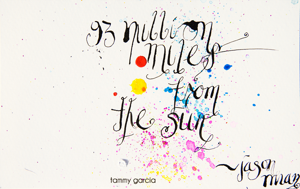 "5x8"" watercolor paper, artwork by Tammy Garcia."