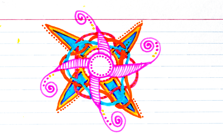 "3x5"" index card, Sakura Glaze Pen, Artwork by Tammy Garcia"
