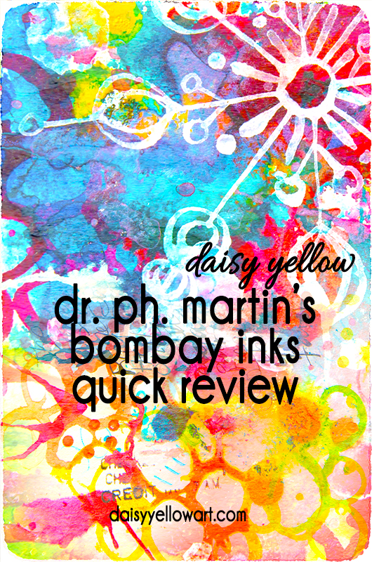 Quick review of Dr. Ph. Martin's Bombay Inks https://daisyyellowart.com