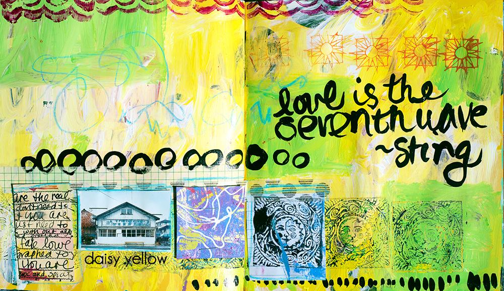 Art journal page by Tammy Garcia