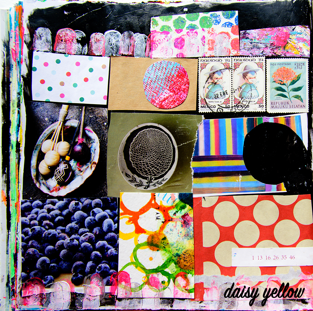 Art journal page by Tammy Garcia https://daisyyellowart.com #mixedmedia