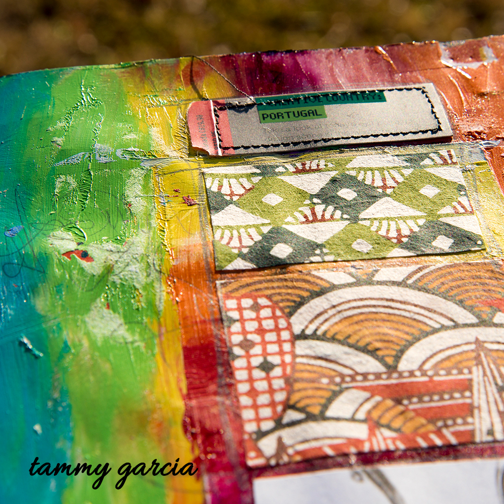 Art journal page by Tammy Garcia https://daisyyellowart.com #artjournal