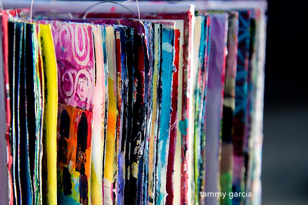 Altered Book Art Journal by Tammy Garcia
