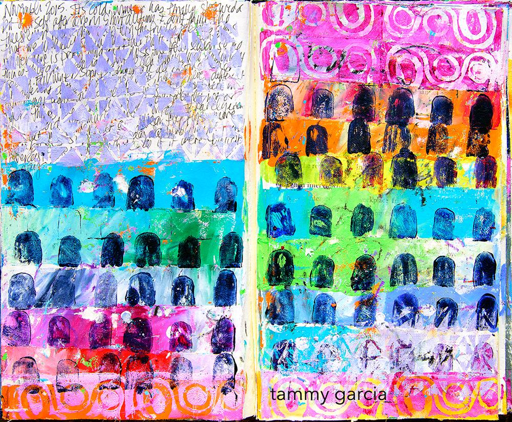Art Journal Page by Tammy Garcia.