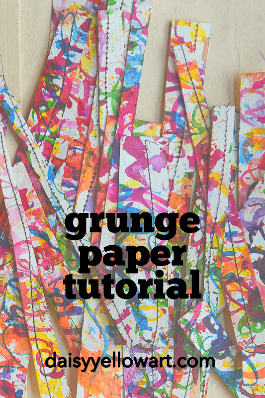 Grunge paper tutorial at Daisy Yellow.