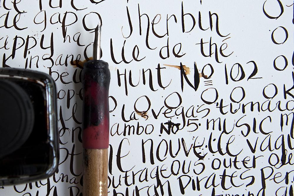 J. Herbin Lie de Thé ink with Hunt #107 nib [not 102].