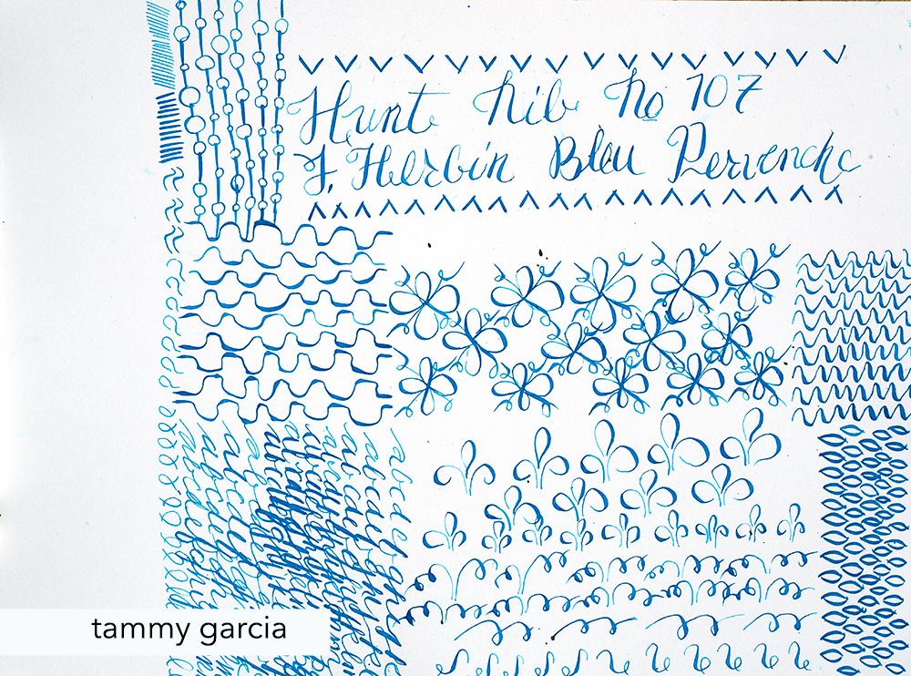 J. Herbin Bleu Pervenche ink with Hunt Nib #107.