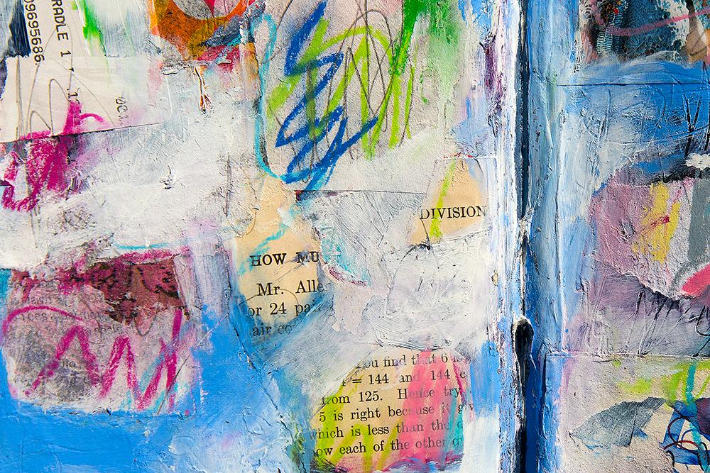 Daisy Yellow Groovy Grunge Art Journal Workshop