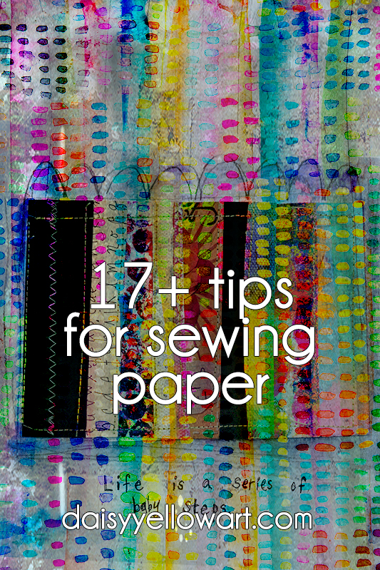 17 tips for sewing paper by Tammy Garcia.