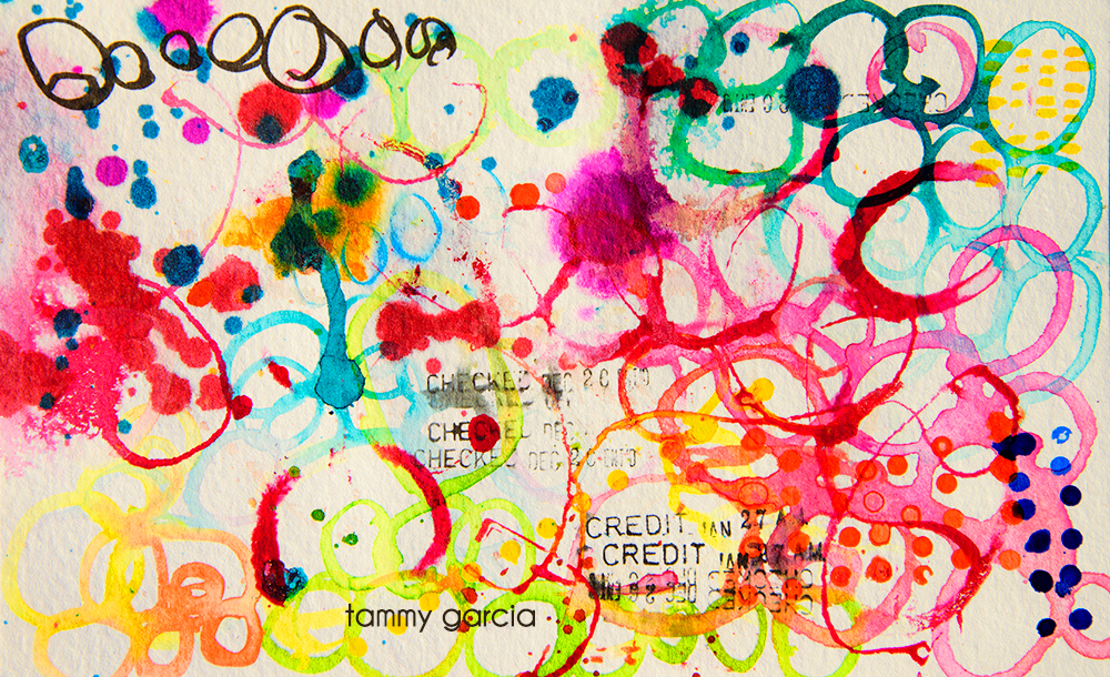 Inktober abstracts by Tammy Garcia.