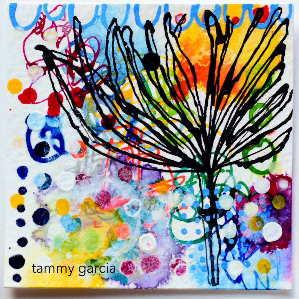 Dahlia, drawing by Tammy Garcia daisyyellowart.com